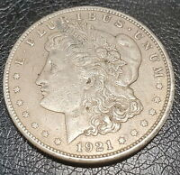 1921 S MORGAN SILVER DOLLAR UNCLEANED