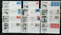 FDC 1957 1960 FLEETWOOD AIR MAIL LOT  12  DIFF FIRST DAY COV