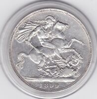 1899   QUEEN  VICTORIA  LARGE  CROWN / FIVE SHILLING  COIN
