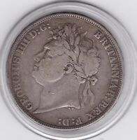 1822   KING  GEORGE  IV  LARGE  CROWN / FIVE SHILLING  COIN