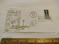1962 WORLD'S FAIR SPACE AGE FIRST DAY COVER ETHEL POLLACK CH