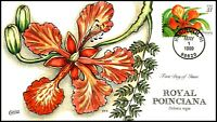 SCOTT 3311 33 CENTS ROYAL POINCIANA COLLINS HAND PAINTED FDC
