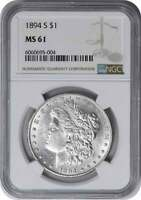 1894-S MORGAN SILVER DOLLAR MINT STATE 61 NGC