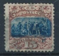 [30382] USA 1869 GOOD STAMP WITH GRID FINE/VF USED SIGNED A.