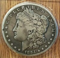1894 S MORGAN SILVER DOLLAR, DON'T GET MUCH TOUGHER LOOKING THAN THIS ONE.