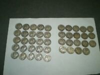 MERCURY DIMES 44 COIN LOT  NO BENT OR SLICK COINS VERY NICE