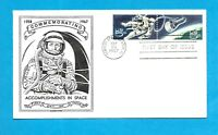US FDC 1967 SPACE TWINS ACHIEVEMENTS 1331 32 CASCADE CACHET FIRST DAY COVER U/A