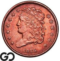 1835 HALF CENT CLASSIC HEAD EARLY DATE COLLECTOR TYPE COPPER