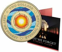 2018 $2 'C' MINTMARK COLOURED UNCIRCULATED COIN: