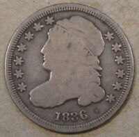 1836 CAPPED BUST DIME VG