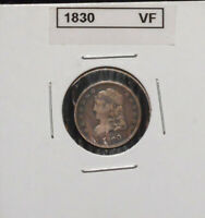 1830 CAPPED BUST HALF DIME   VF/ XF CONDITION