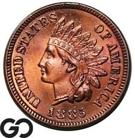 1885 INDIAN HEAD CENT PENNY TOUGH THIS NICE GEM BU   BETTER