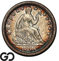 1850 SEATED LIBERTY HALF DIME CHOICE AU  /UNC COLLECTOR TYPE