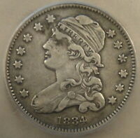 1834 CAPPED BUST QUARTER 25C ICG CERTIFIED VF25