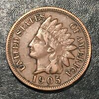 1905 INDIAN CENT - HIGH QUALITY SCANS J709