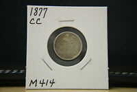 1877 CC EXTRA FINE  SEATED LIBERTY DIME SILVER LOT M414