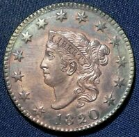 1820 LARGE CENT 1  NICE COIN