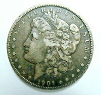1901  BETTER DATE MORGAN DOLLAR, LY TONED, NEVER CLEANED, SHIPS FREE