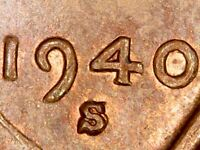1940S 1DO 001 1MM 001 DOUBLED DIE OBVERSE & DOUBLED S MINT MARK LWC VARIETY