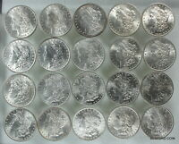 20 PC ROLL OF UNCIRCULATED PRE 1921 MORGAN SILVER DOLLARS $1  1882-1904   2