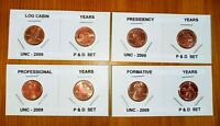 LINCOLN PENNY SET .8 UNC COINS.