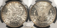 1891-S MORGAN 1 DOLLAR SILVER NGC MINT STATE 62 US89971