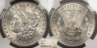 1891-S MORGAN 1 DOLLAR SILVER NGC MINT STATE 62 US89972