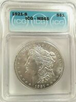 LOT OF TWO 1921 S MORGAN  $1, BOTH MINT STATE 65, DEALERS SPECIAL, 750.00, ICG