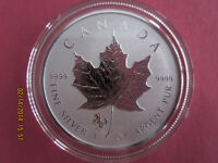 2014 1 OZ .9999 REVERSE PROOF SILVER CANADIAN MAPLE LEAF COIN   HORSE PRIVY