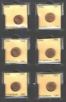 1951 1952 1953 CHILE 20 CENTAVOS COIN SET UNCIRCULATED CATS $12    NICE COINS