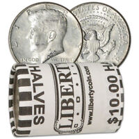 90  SILVER 1964 KENNEDY HALF DOLLARS   ROLL OF 20   $10 FACE VALUE