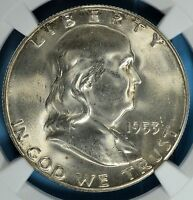 1953 S FRANKLIN HALF DOLLAR NGC MS65 EXCEPTIONAL EYE APPEAL