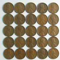 LOT OF 50 1930 S 1C LINCOLN WHEAT CENT PENNIES VF-EXTRA FINE  ROLL 42286