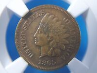 1865 INDIAN HEAD PENNY 1C  NGC AU 53       2006