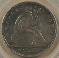 1853 ARROWSRAYS LIBERTY SEATED HALF PCGS XF 45 NICE ORIGINAL COIN