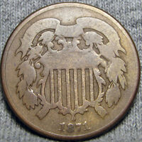 1871 TWO CENT PIECE 2 CP TYPE COIN  ----  ----   P419