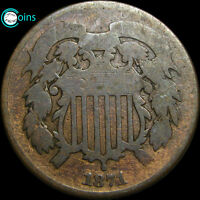 1871 TWO CENT PIECE TYPE COIN 2CP LOW MINTAGE C164