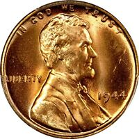 1944 1C LINCOLN CENT PCGS MS66RD 574