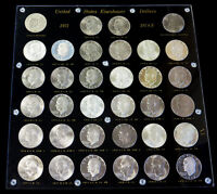1971 1978 S SILVER & CLAD PROOF & BU EISENHOWER DOLLAR COMPLETE 34 COIN SET