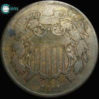 1871 TWO CENT PIECE TYPE COIN LOW MINTAGE  S348