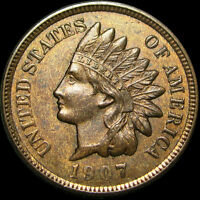 1907 INDIAN CENT TYPE PENNY      I REVIEW ALL OFFERS!     P346