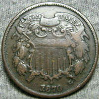 1870 TWO CENT PIECE 2 CP TYPE COIN  ----  ----   P417