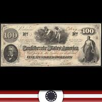FULLY FRAMED T 41 1862 $100 'HOER NOTE' CONFEDERATE CURRENCY CIVIL WAR
