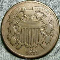 1871 TWO CENT PIECE 2CP --- LOW MINTAGE --- P957