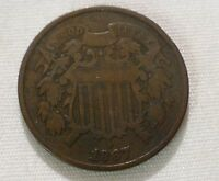 1867 2 CENTS PIECE US COIN