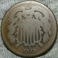 1865 TWO CENT PIECE 2CP TYPE COIN   ----  ----  V930