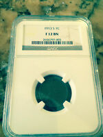 1913 S LINCOLN CENT NGC F 12 BN