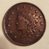 1836 ONE CENT PENNY XF DETAILS.