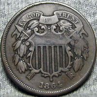1864 TWO CENT PIECE 2CP TYPE COIN   --- I REVIEW ALL OFFERS --- P404