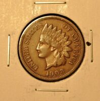 1908 S INDIAN HEAD CENT 1C XF